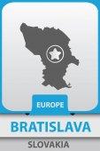 Bratislava  city map silhouette vector illustration