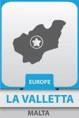 La Valetta city map silhouette