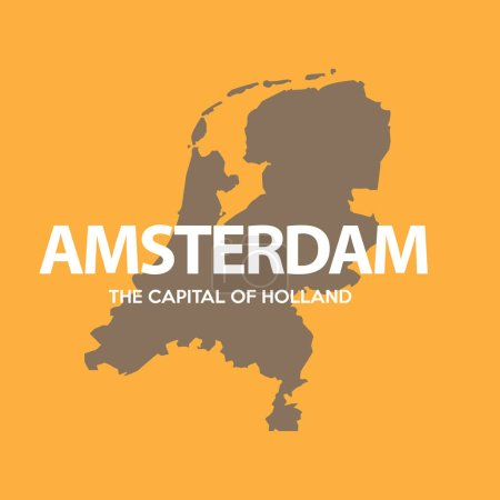 Illustration pour Amsterdam carte de la ville silhouette. illustration vectorielle - image libre de droit