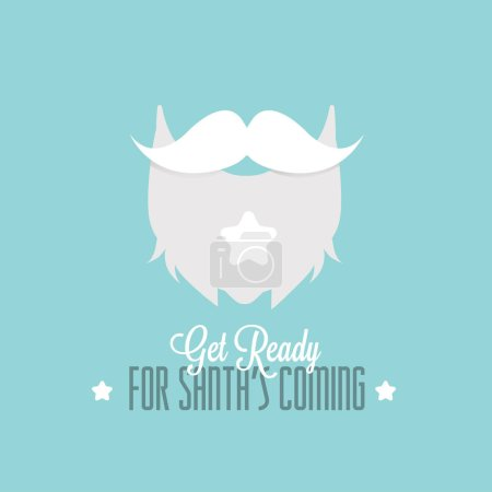 Santa Claus poster with beard