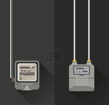 Flat gas meter