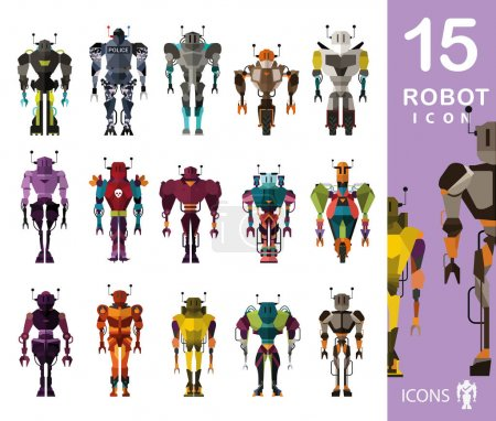 set of Robot characters