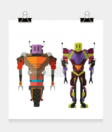 Robot characters with full bodies