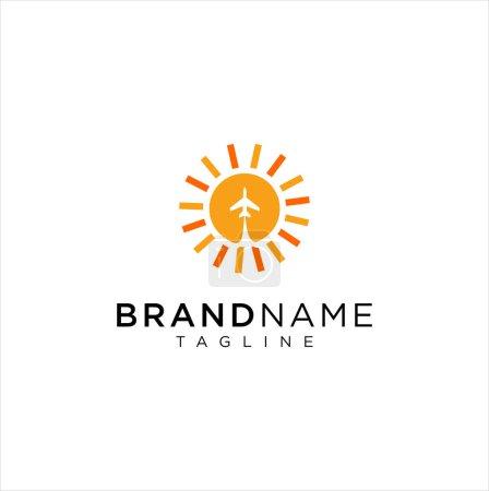 Sun Logo Icon Vector Stock On A White Background . Sunrise Logo Design . Sunset Logo Design Template