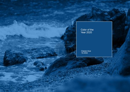 Photo for View of storm seascape color of the year 2020 blue - Royalty Free Image