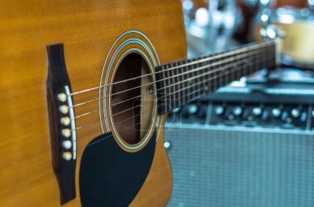 Closeup Guitar, musical concept