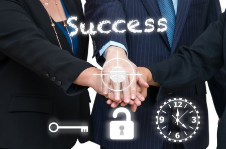 Business people joined hands together