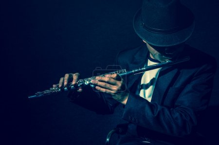 Flutist musician performer