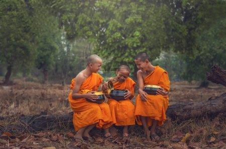 Three Neophyte monks