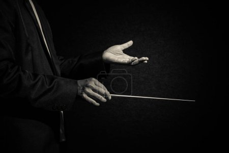 Orchestra conductor hands