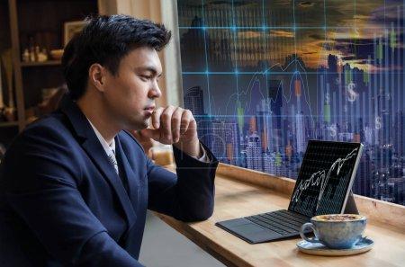 Asian Businessman using computer