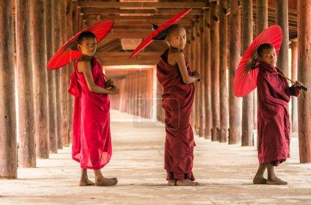 Three Buddhist novices
