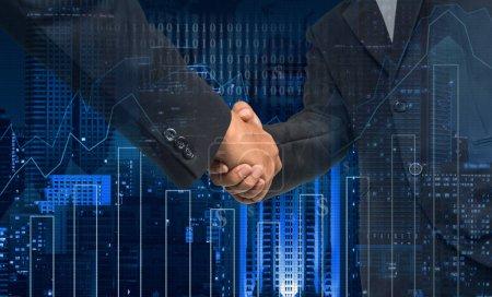 Hand shake between businessmen