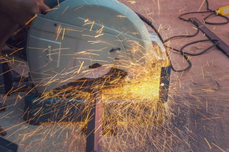 metal material with sparks