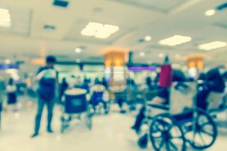 blurred hospital background