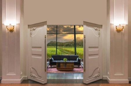 Open door in the Lobby area