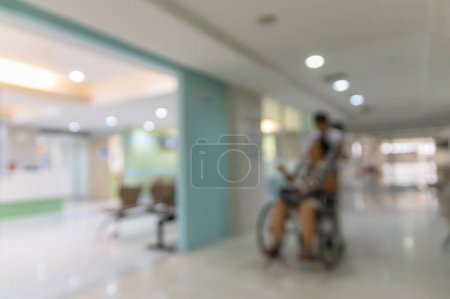 blurred hospital background
