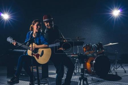 Musician duo band singing