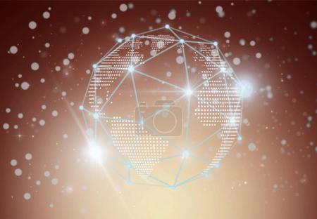 Futuristic technology polygonal circle shape