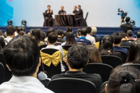 conference hall with Audience