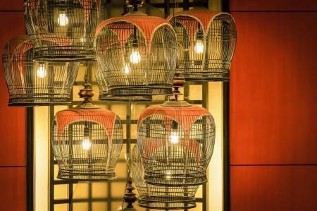 bird cage lamp decorations