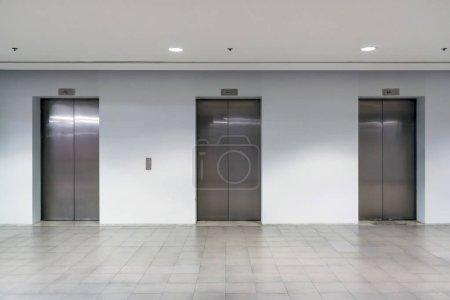 Three elevator doors interior