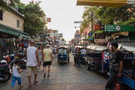 Khaosan Road  in central Bangkok