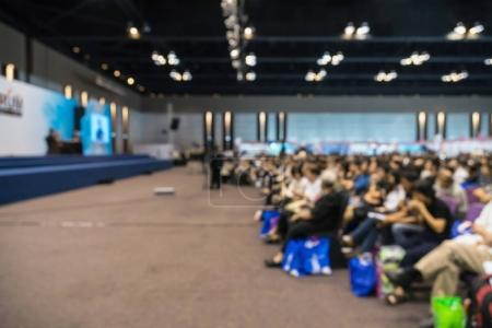 blurred photo of conference hall