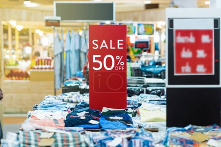 sale 50% off mock up advertise