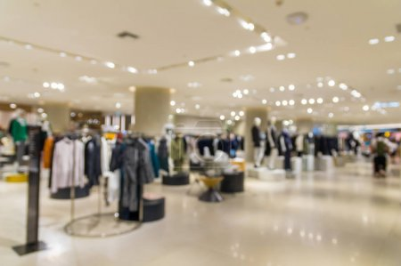 Abstract blurred photo of clothing store