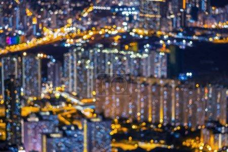 Photo pour Paysage urbain bokeh, photo abstraite brouillée du paysage urbain au crépuscule, concept de fond - image libre de droit