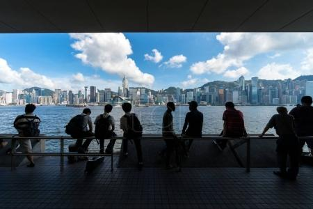 Hong Kong cityscape on the afternoon