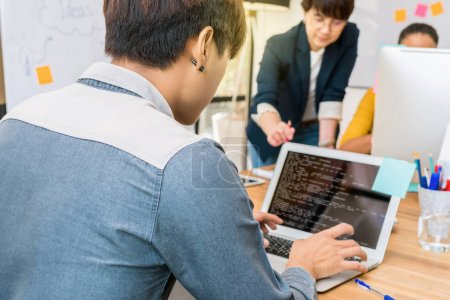 businessman using the computer