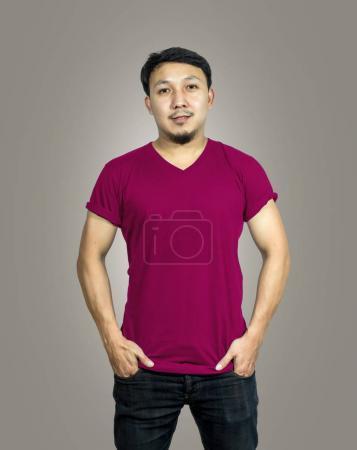 T-shirt mockup, designer concept, front side