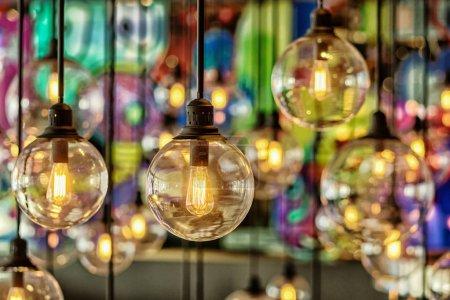 Photo pour Décoration d'éclairage de luxe close up - image libre de droit