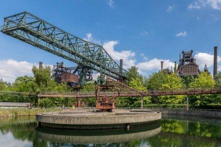 Photo pour Une belle photo du Landschaftspark Duisburg-Nord en Allemagne - image libre de droit