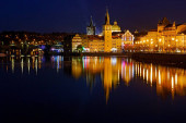 Prague - Vltava, evening