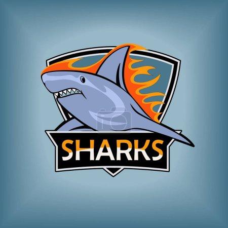 Sharks logo, emblem