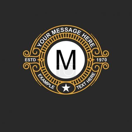 Modern emblem, badge, monogram template.