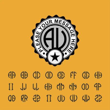 Modern emblem, badge, template.