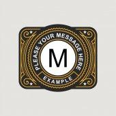 Modern emblem badge monogram template