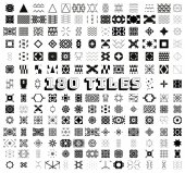 180 Tiles Geometric and Ornamental Seamless Patterns