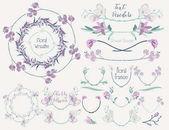 Colorful Floral Design Elements Dividers Frames