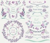 Big Collection of Floral Design Elements Dividers Frames