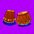 Illustration of desi (indian) art style musical in...