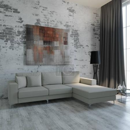 3d design of living room...