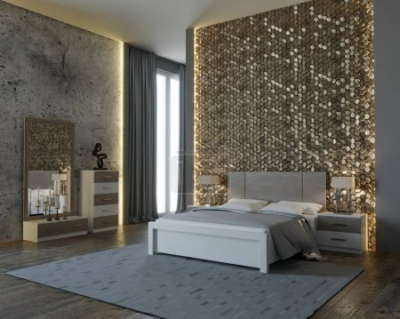 3D-Design des Schlafzimmers