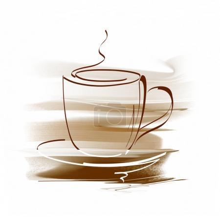 Photo pour Tasse chaude de café isolé sur fond blanc - image libre de droit
