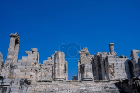 View of Temple of Apollo in antique city of Didyma...