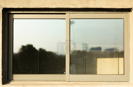 Photo pour Vue photographique de la fenêtre - image libre de droit